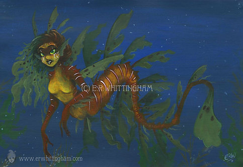 Leafy Sea Dragon Mermaid ORIGINAL PAINTING