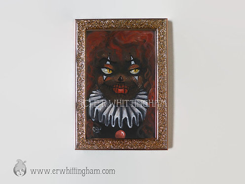 Halloween Harlequin ORIGINAL MINIATURE PAINTING