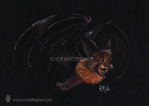 Flying Fox Bat ART PRINT