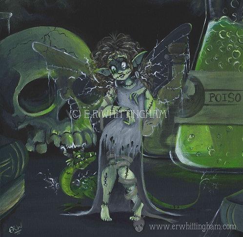 Frankenstein Fairy ORIGINAL PAINTING