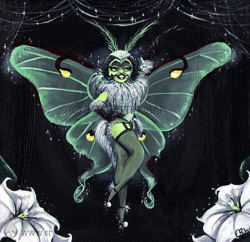 Miss Luna Moth ART PRINT