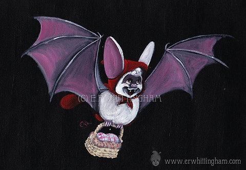 Red Riding Hood Bat ART PRINT