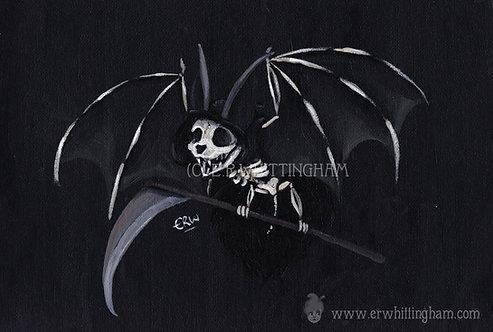 Grim Reaper Bat ART PRINT