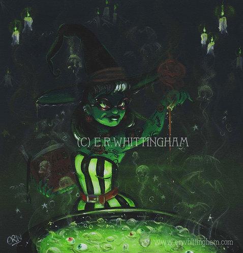 Halloween Witch ORIGINAL PAINTING