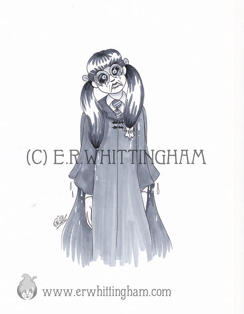 Moaning Myrtle ORIGINAL INK DRAWING