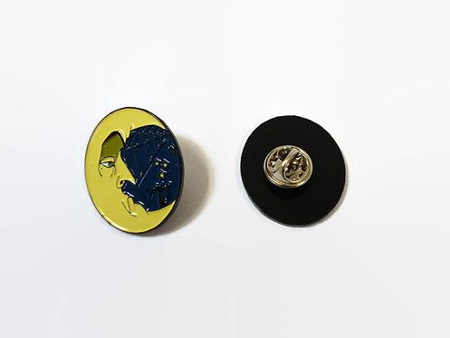Limited Edition Cobweb Moon ENAMEL PIN