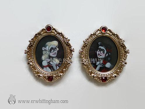 Snow White & Rose Red ORIGINAL MINIATURE PAINTINGS