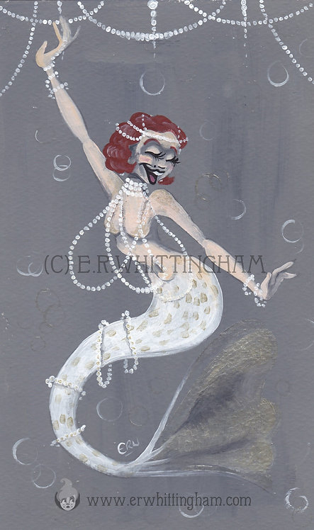Pearl Flapper Mermaid ORIGINAL PAINTING