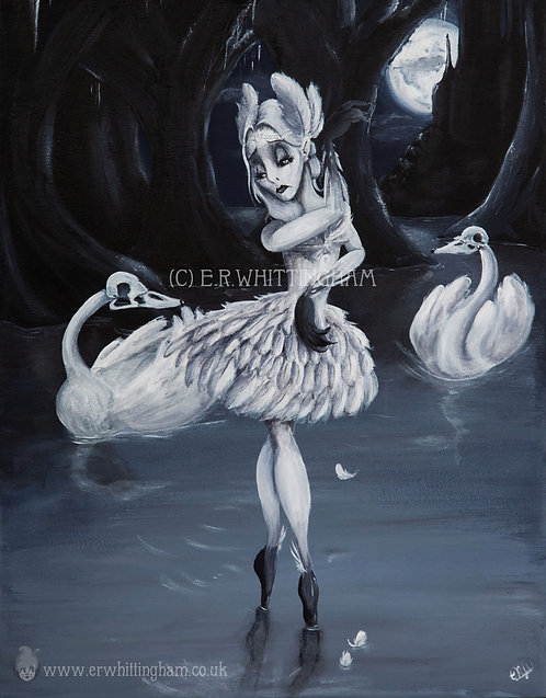 Odette, the White Swan ART PRINT