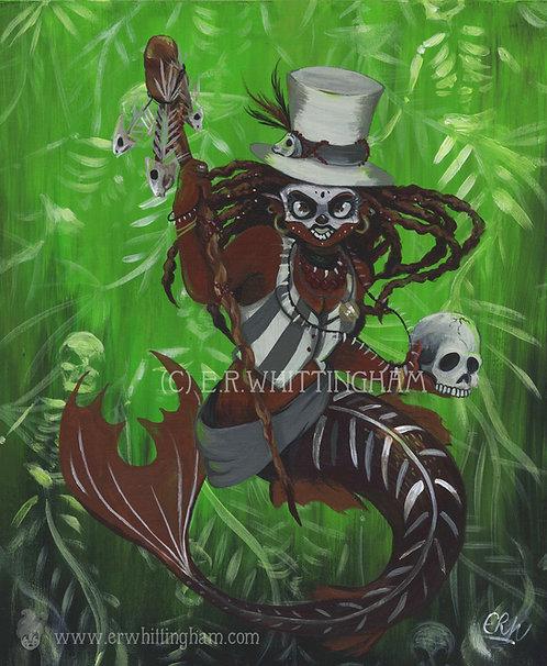 Witch Doctor Mermaid ART PRINT