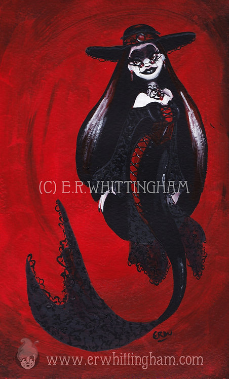 Goth Mermaid ART PRINT
