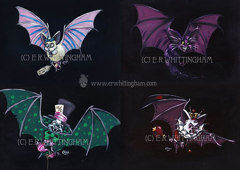 Wonderland Bats ART PRINTS