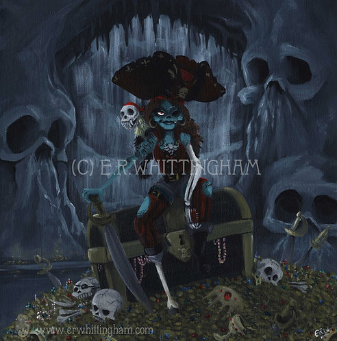 Cpt. Ruby Rattlebones ORIGINAL PAINTING
