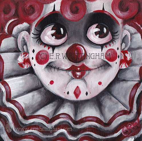 Clown Girl ORIGINAL PAINTING