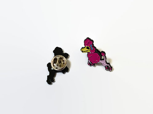 Limited Edition Skull Poodle ENAMEL PIN