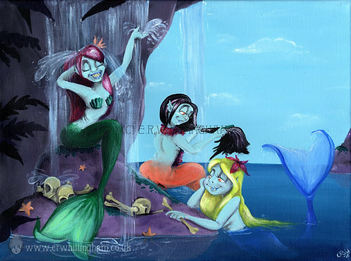 The Mermaid Lagoon ART PRINT