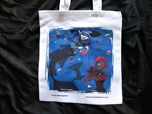 Goth Mermaids Tea Party TOTE BAG