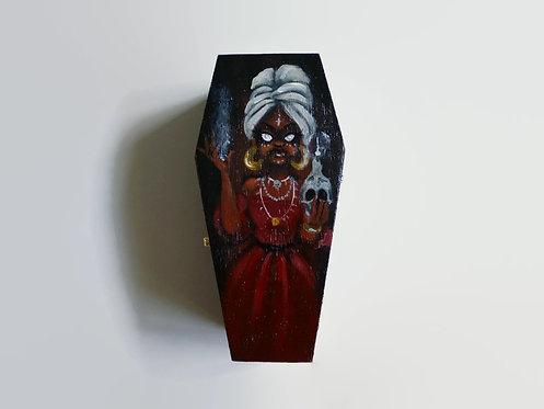 Voodoo Queen HAND PAINTED COFFIN BOX