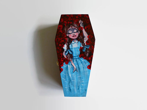 Wizard of Oz HAND PAINTED COFFIN BOX