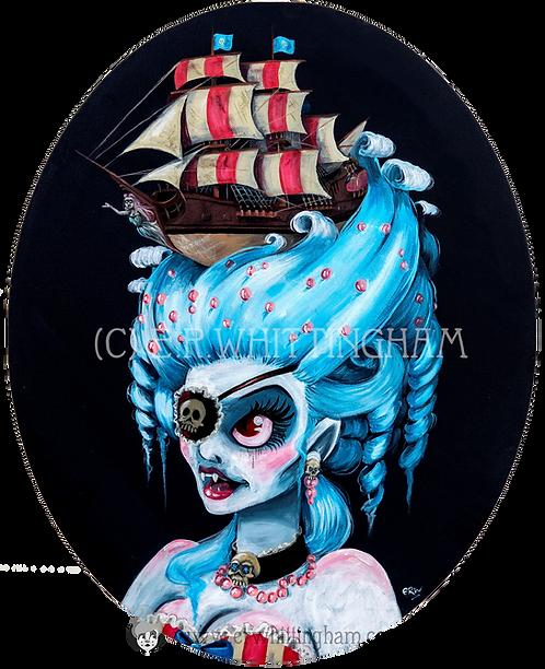 Pirate Ship Vampire ART PRINT