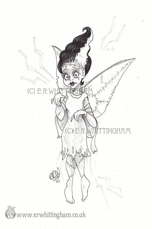 Frankenstein Fairy ART PRINT