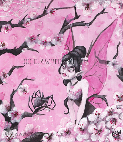 Cherry Blossom Fairy GREETINGS CARD