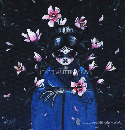 Yokai and Flowers ORIGINAL PAINTING