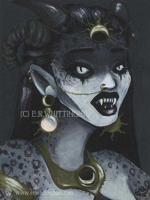 Demon Princess ORIGINAL PAINTING