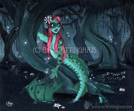 Bayou Mermaid ART PRINT