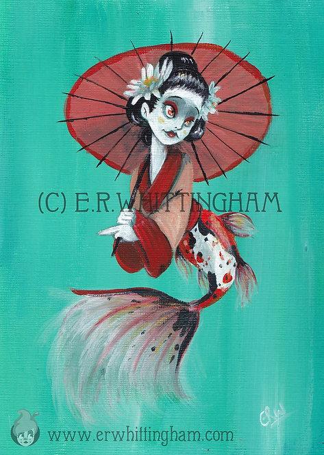Geisha Mermaid ART PRINT