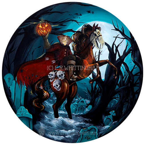 The Headless Horseman ORIGINAL PAINTING