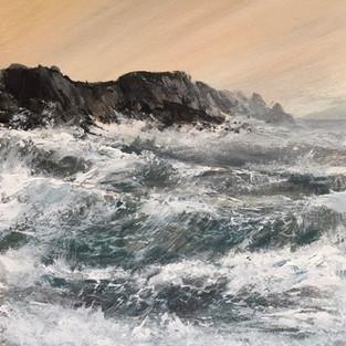 Crashing Waves at Fall Bay