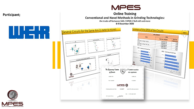 MPES has completed Conventional and Noce