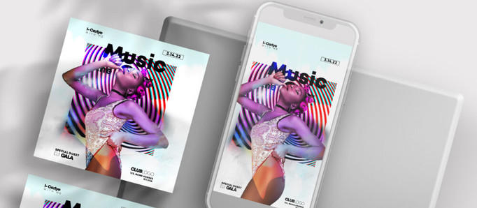 Dance To The Music Free Instagram Banners (PSD)