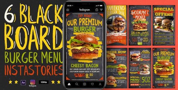 Blackboard Burger Menu Instagram Stories 31135966 Free