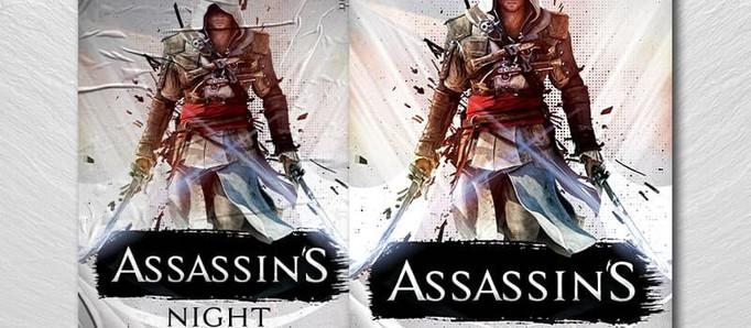 Assassins Gaming Night PSD Flyer Template