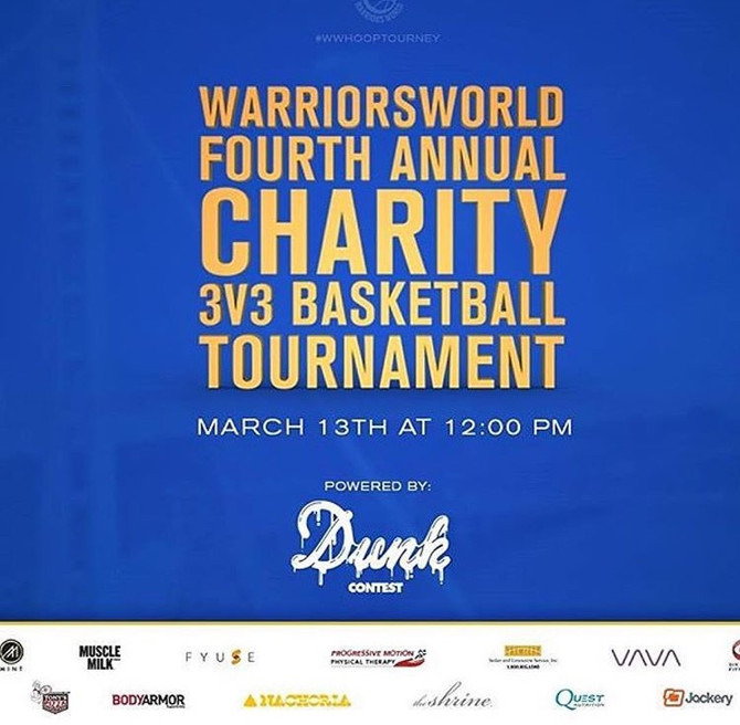 Warriors World 4th Annual Charity 3V3 Basketball Tournament
