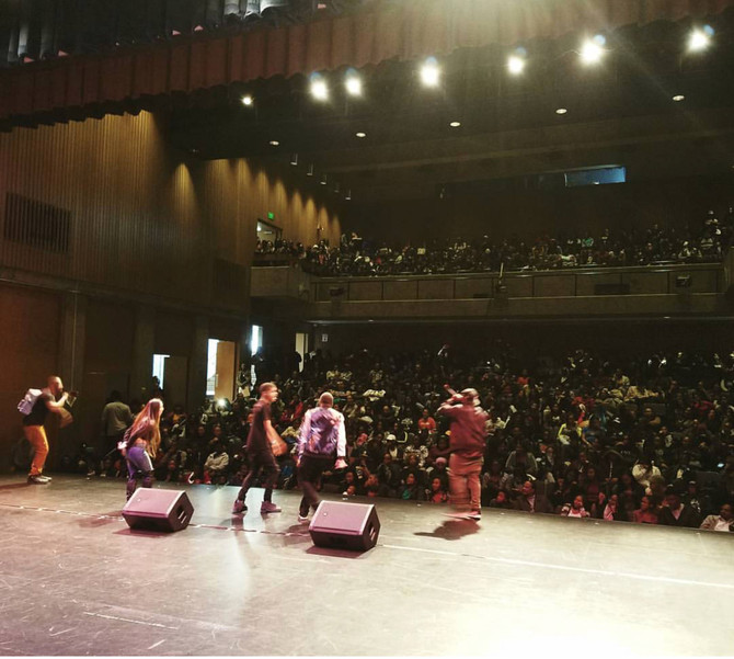 Project Level Kills the stage at Black College Expo