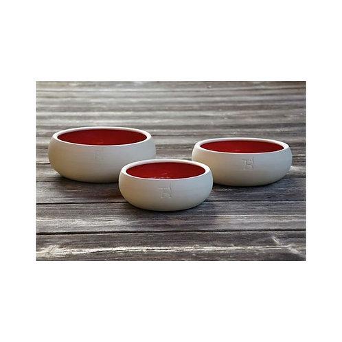 Hundenapf Keramik Rot