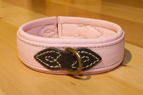 Leder Halsband Rosa