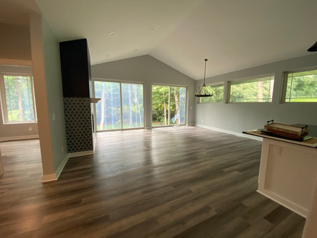Vacant Living Room & Dining Room