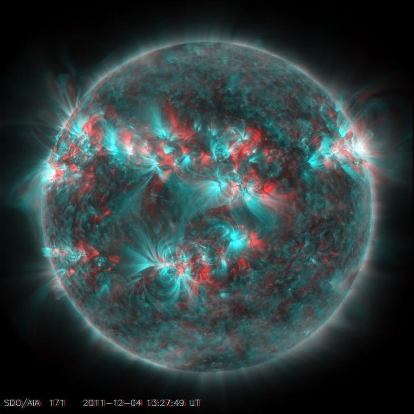 Raio X da superfície solar