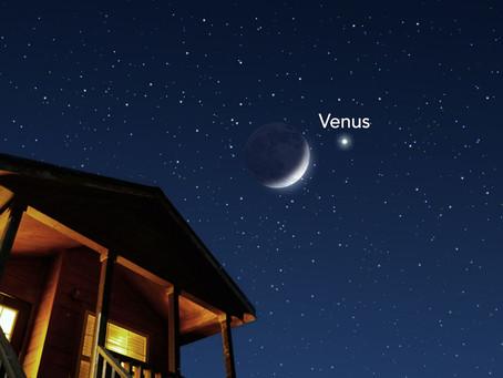 Seguidores do Clube registram encontro da Lua com o planeta Vênus