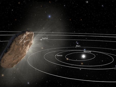 O primeiro Objeto Interestelar do Sistema Solar é acelerado inesperadamente