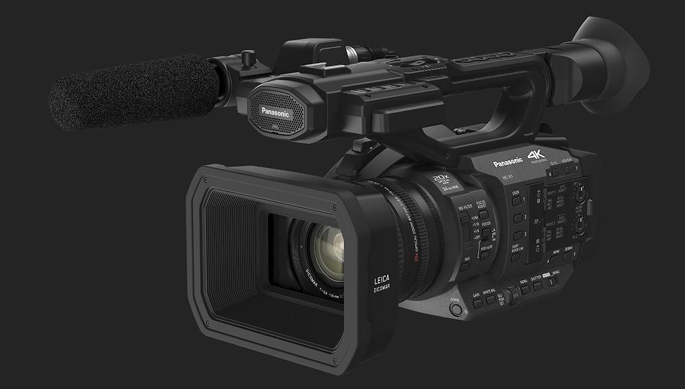 4K-Filmkamera für gestochen scharfe Bilder am Boden