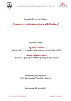 Presseaussendung Heldenberg