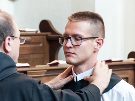 Einkleidung von Fr. Leo Maria OSB