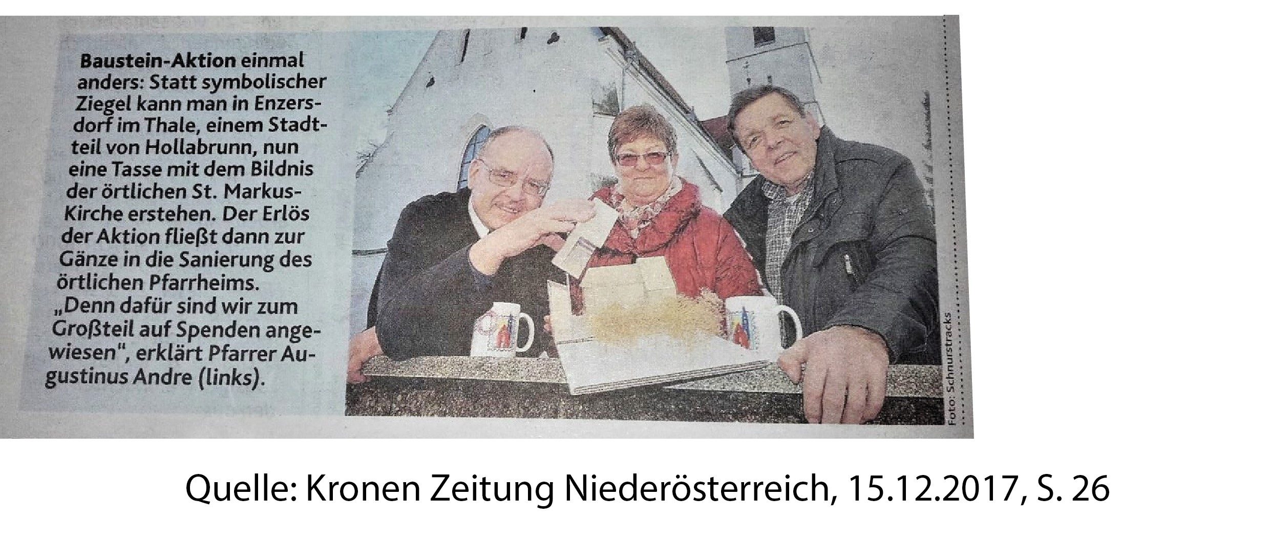 Schnurstracks Medienbericht Krone 15.12.2017
