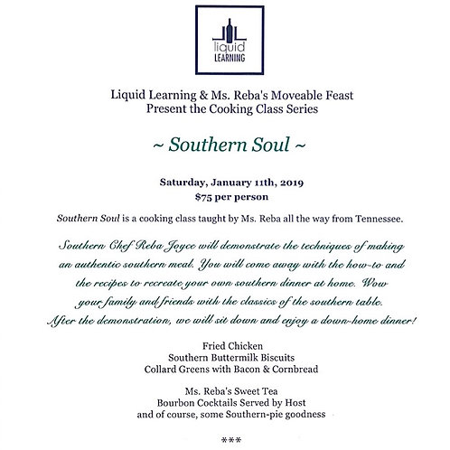 Southern Soul ~ Cooking Class