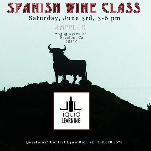 Spanish Wine Class - Saturday, June 3rd, 3-6 pm